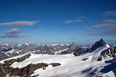 Panorama auf dem Gletscher Verra