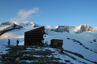 The Quintino Sella Refuge - Sunset